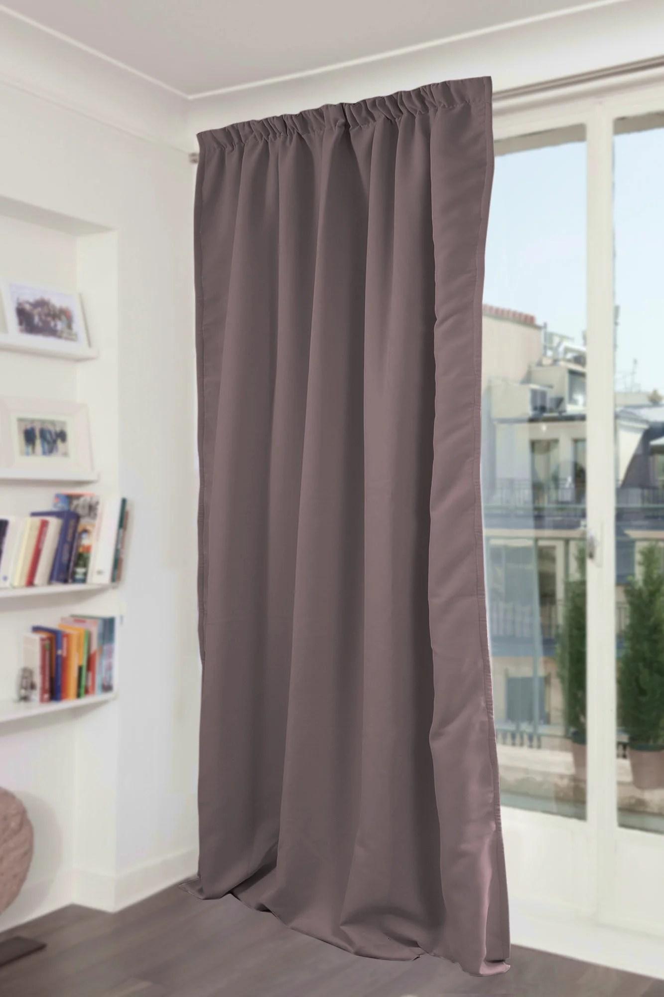 rideau occultant thermique et phonique gris poivre l 145 x h 300 cm moondream