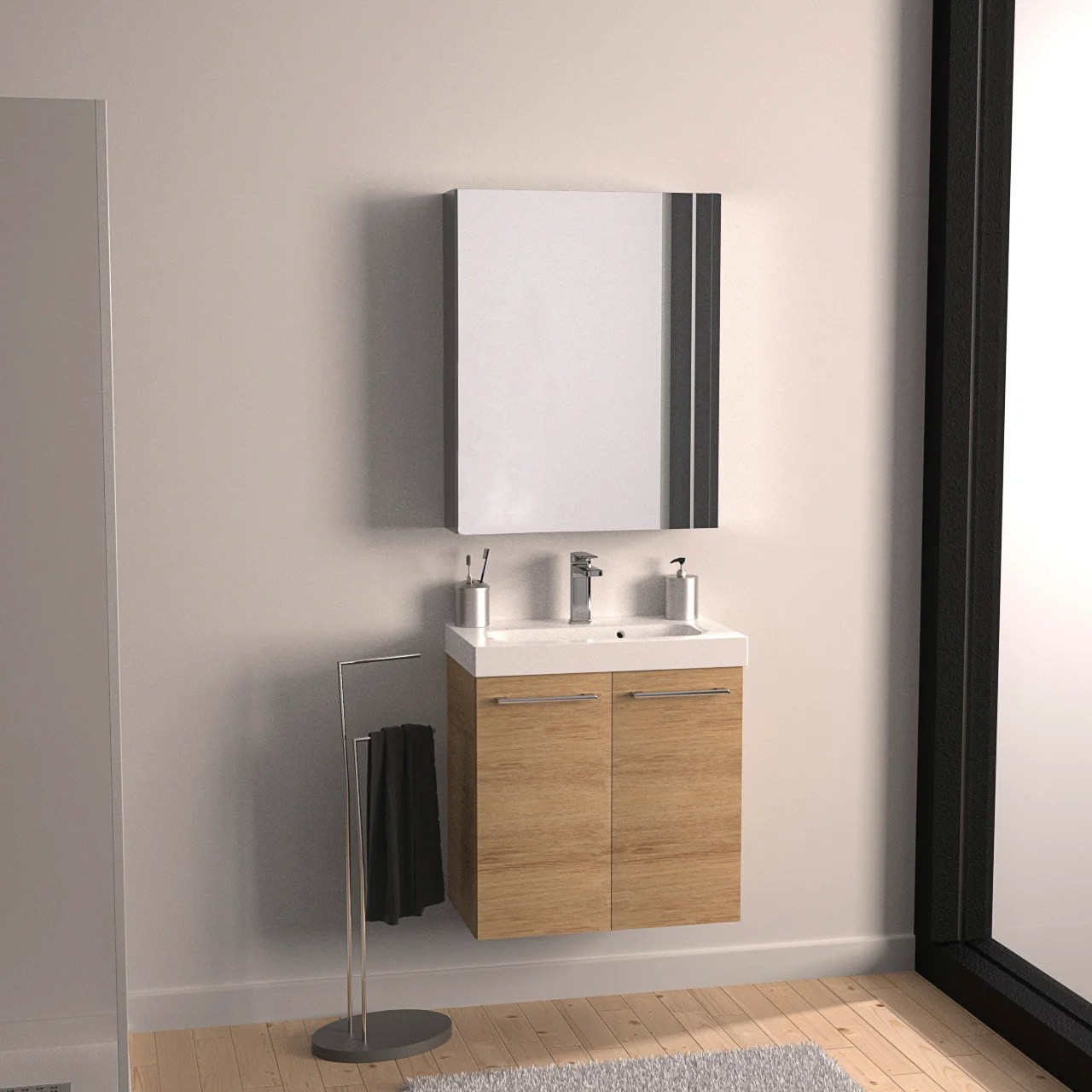 Meuble Simple Vasque L 120 X H 58 X P 46 Cm Blanc Remix Leroy Merlin