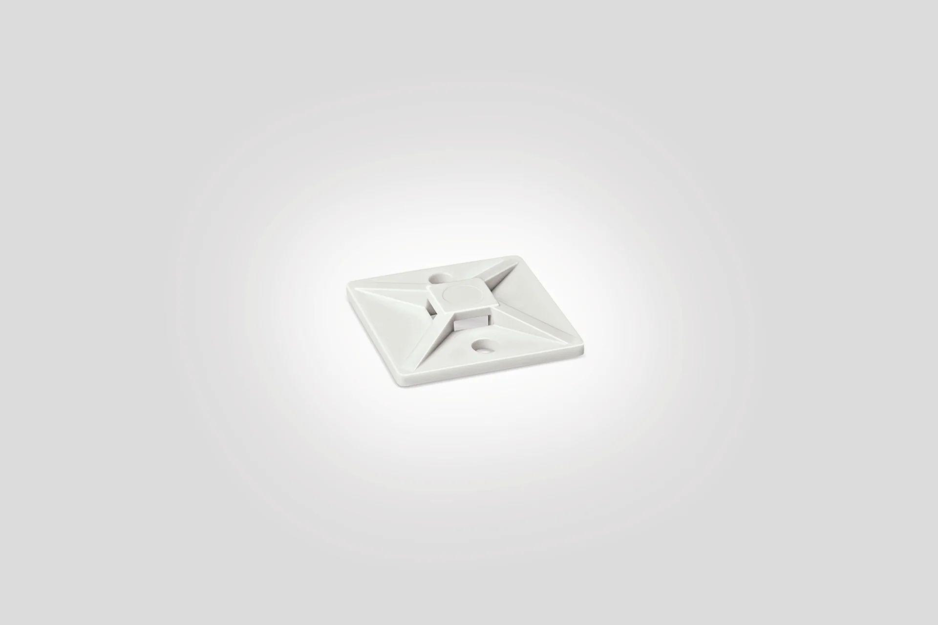 Lot De 10 Embases Adhesive Pour Collier L 28 Mm Blanc Hellermanntyton Leroy Merlin