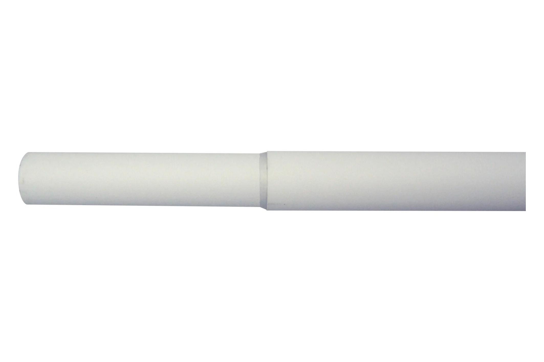 tringle a rideau extensible cosy blanc satine de 200 a 360 cm inspire