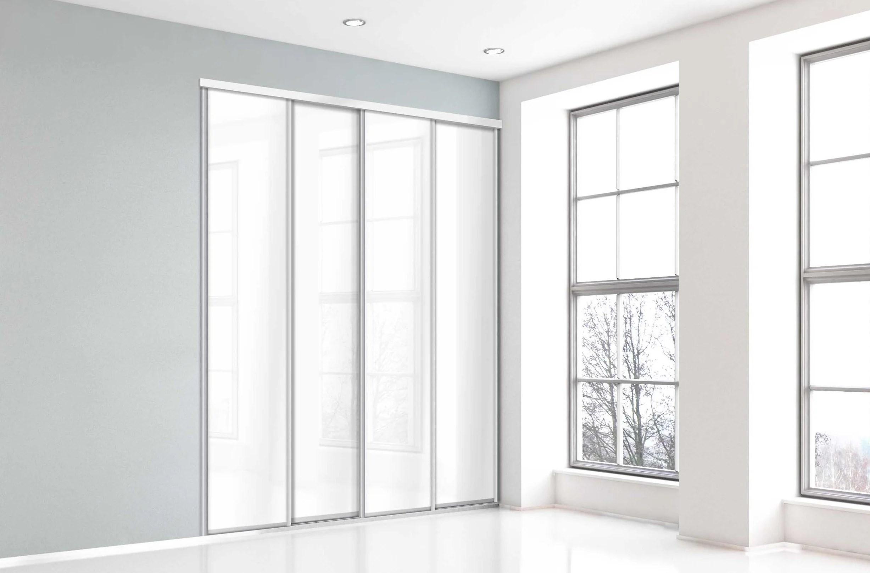 porte de placard coulissante blanc brillant l 67xh 250cm leroy merlin