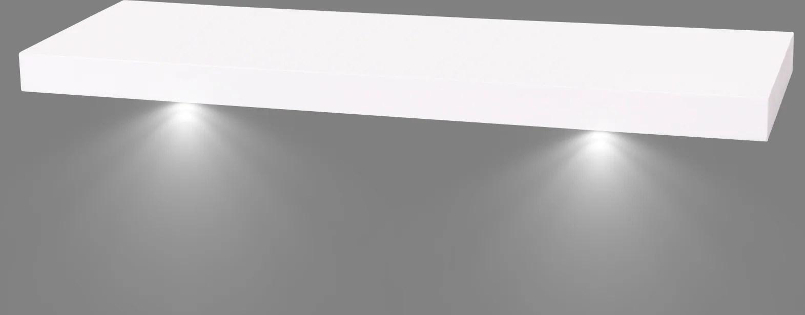 etagere murale ds4 led blanc mat l 60 x p 23 5 cm ep 38 mm