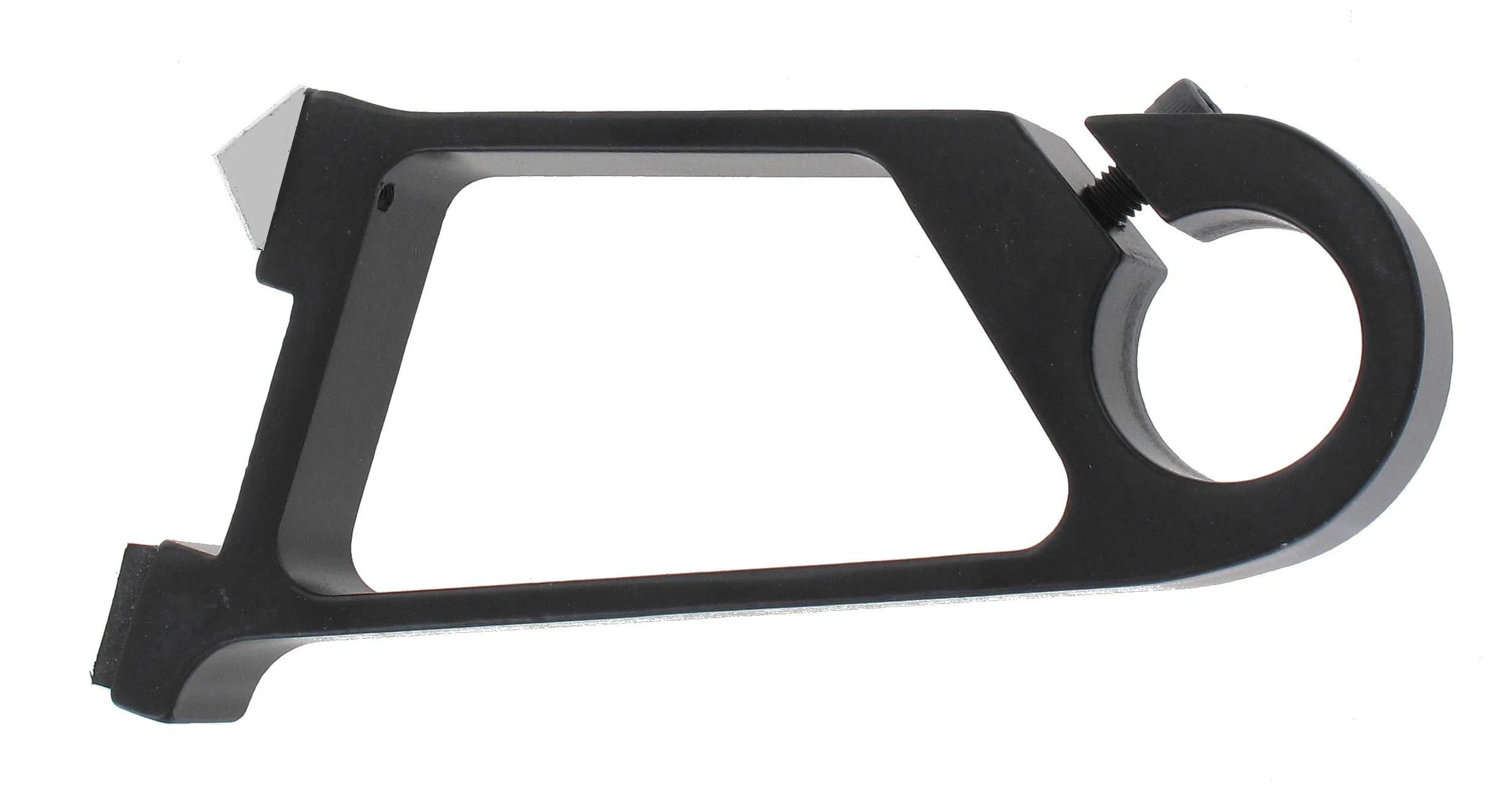 support sans percage tringle a rideau ib 25 mm noir mat ib