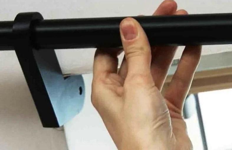 tringle a rideau extensible city noir mat diam 25 mm de 180 a 300 cm ib