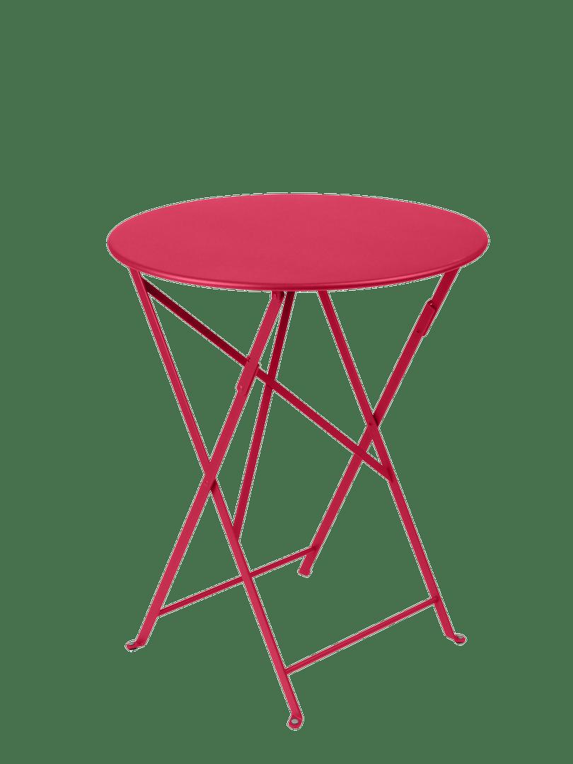 table de jardin de repas fermob bistro ronde rose praline 2 personnes