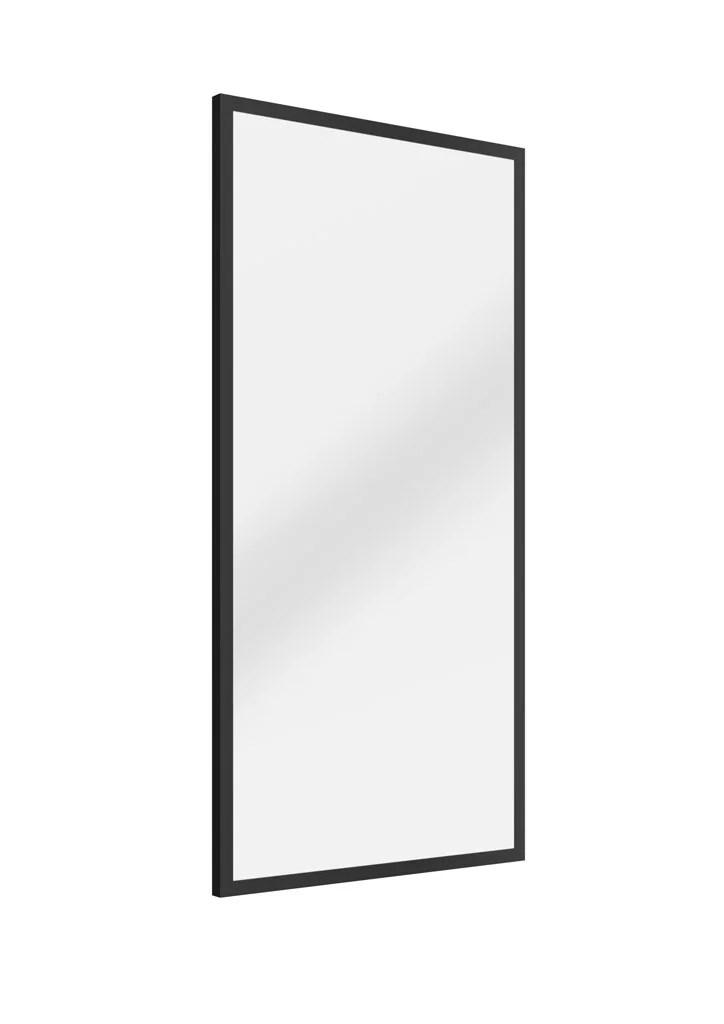 miroir rectangulaire a poser en metal noir l 60 x h 160 cm