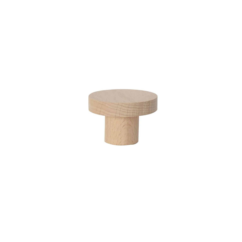 bouton de meuble hetre bois h 40 x l 40 x p 30 mm