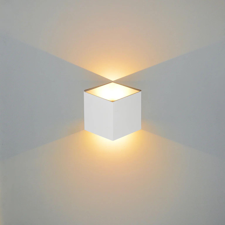 Applique Design Aluminium Blanc Led Integree Lussiol Jazzy Leroy Merlin