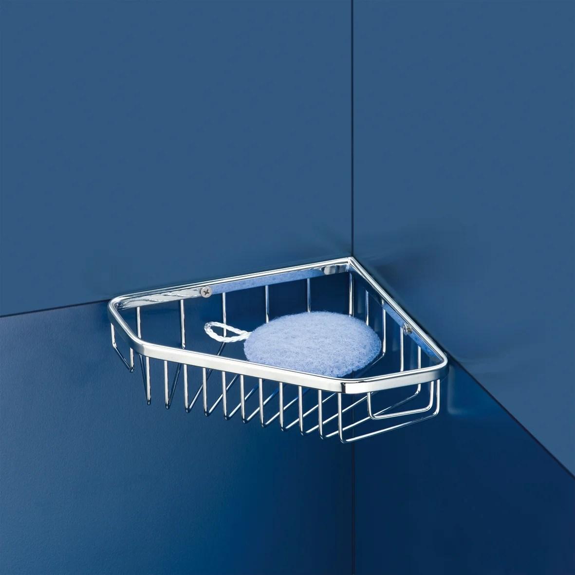 etagere de bain douche d angle a visser chrome hotel