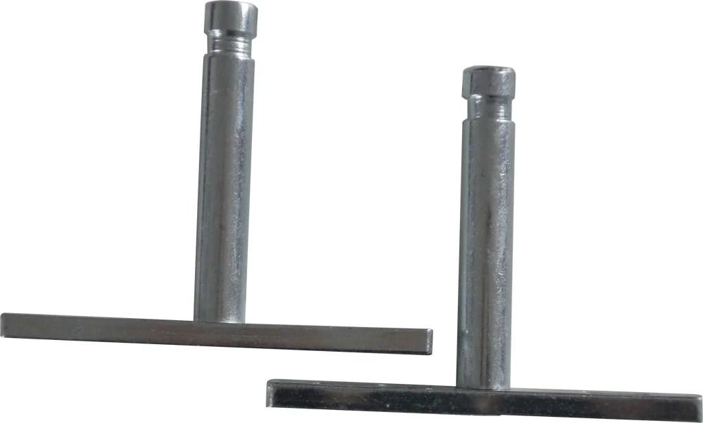 kit de fixations invisibles metal brut gris x p 1 2 cm