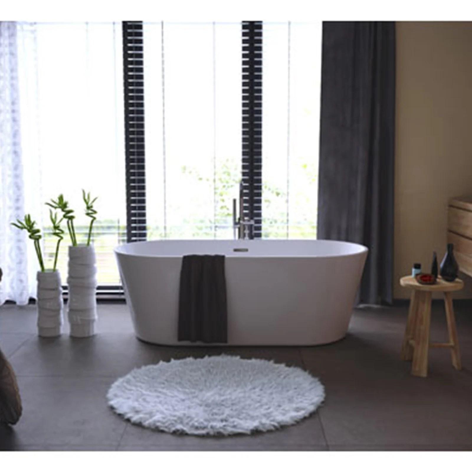 baignoire ilot l 80 x l 170 cm blanc anna balneo