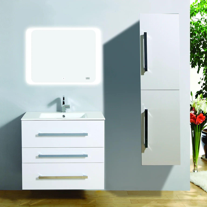 meuble salle de bains 4 pieces senso l 80 x h 68 x p 50 cm blanc senso all