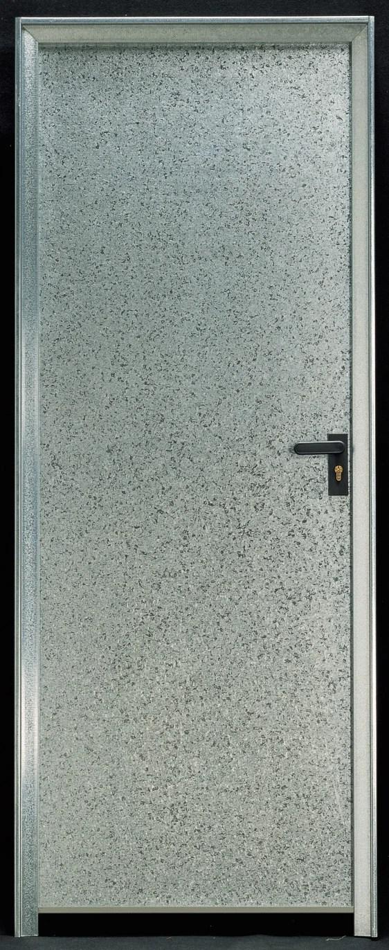 porte de service acier h 200 x l 89 cm pleine galvanise pg
