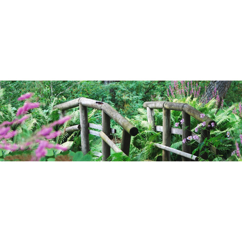brise vue imprime jardin anglais h 1 x l 3 m 100 occultant scenolia