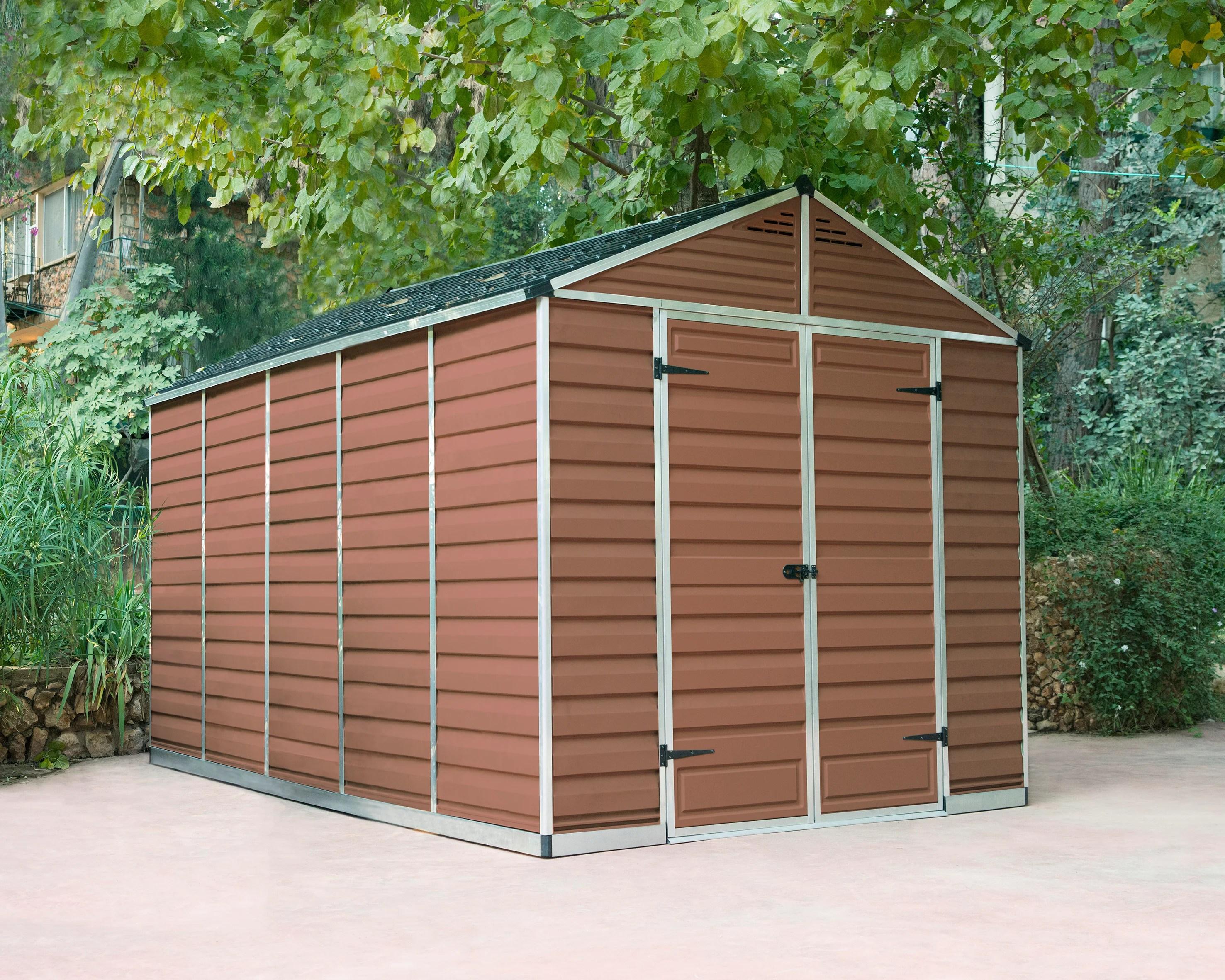 abri de jardin skylight ambre 8 7 m aluminium et polycarbonate palram leroy merlin