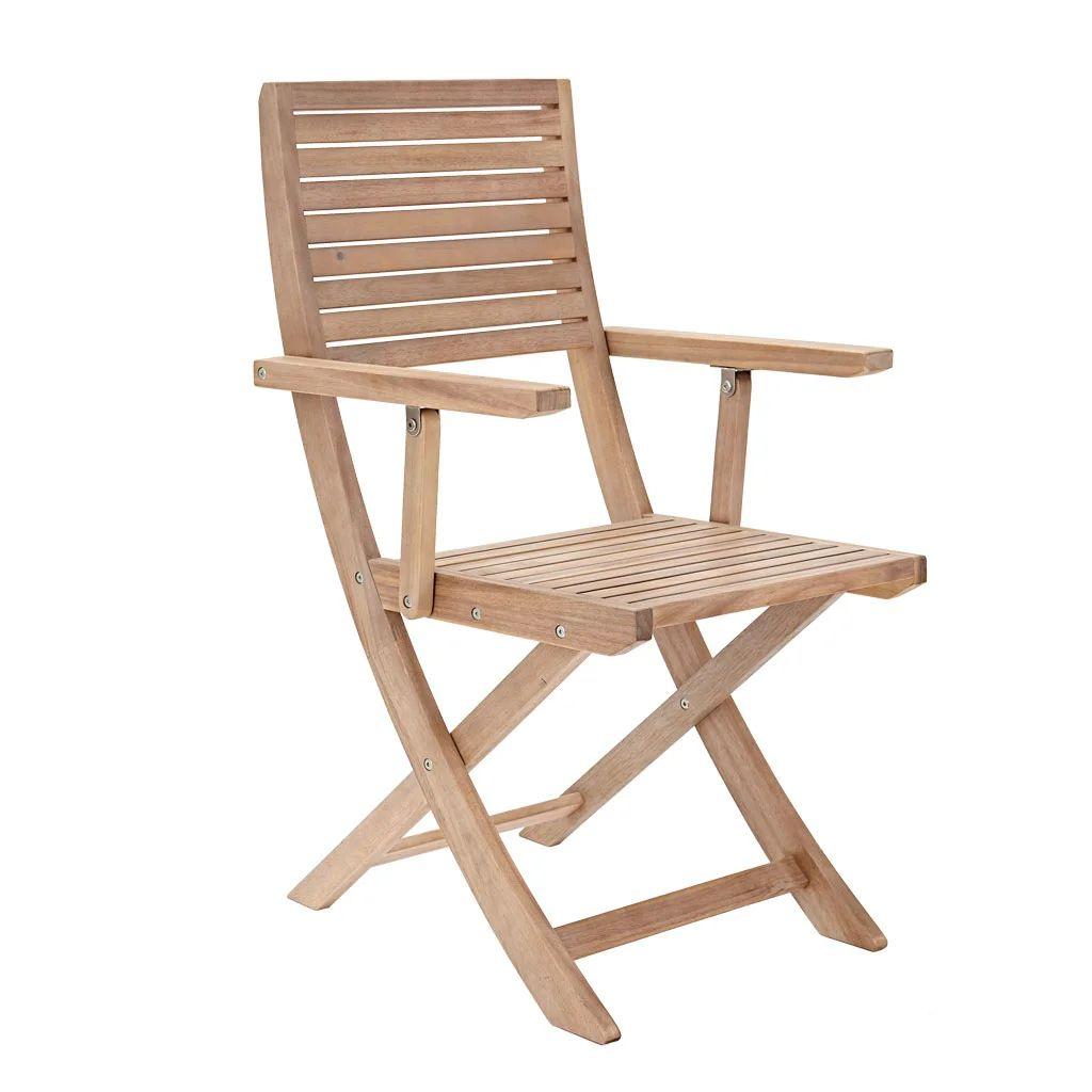 fauteuil de jardin en bois solaris origami marron
