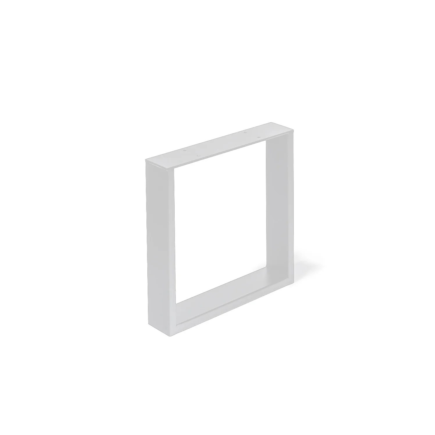 pied meuble design rei fixe metal brut blanc