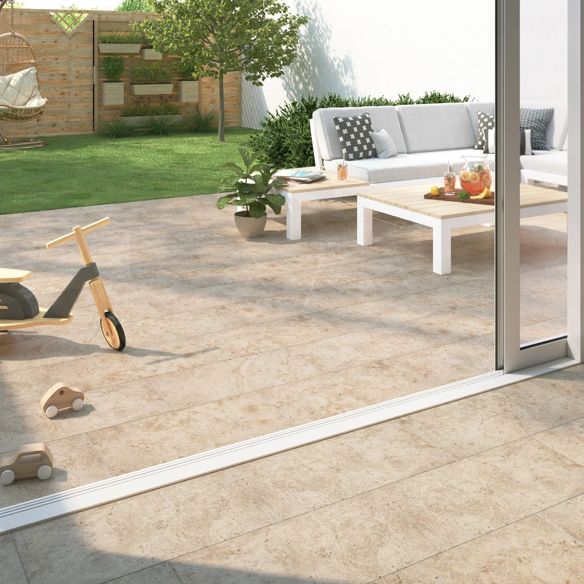 Carrelage Sol Exterieur Intenso Effet Travertin Beige Shelby L 30xl 60 Cm Leroy Merlin
