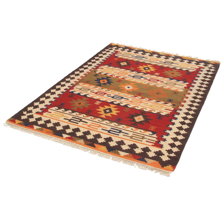 tapis rouge rectangulaire l 160 x l 230 cm laine kilim sivas 2 leroy merlin