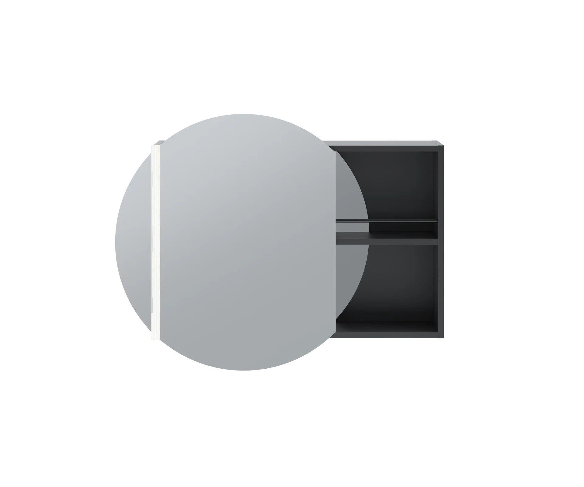 Armoire De Toilette Led Avec Eclairage Integre L 80 Cm Gris Mat Paris Leroy Merlin