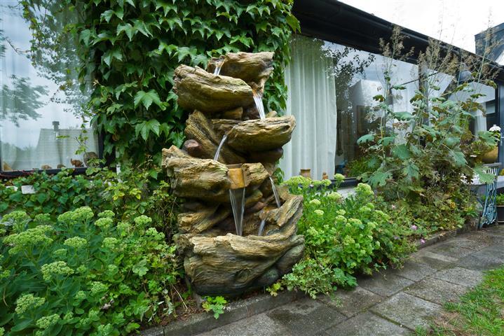 Fontaine En Resine Ubbink Rock Sedona Gris Leroy Merlin