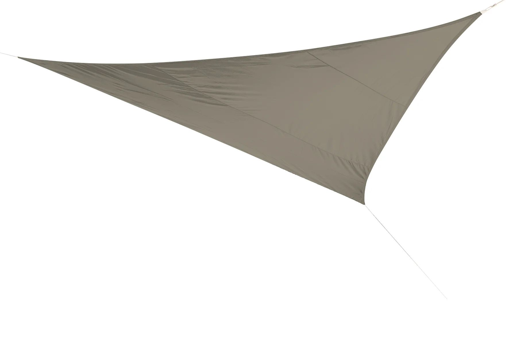 voile d ombrage triangulaire taupe l 500 x l 500 cm
