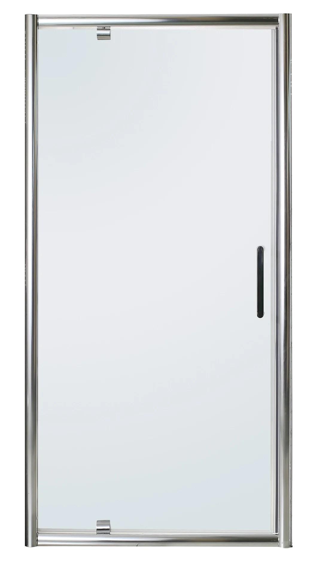 porte de douche pivotante transparent chrome 100 cm quad