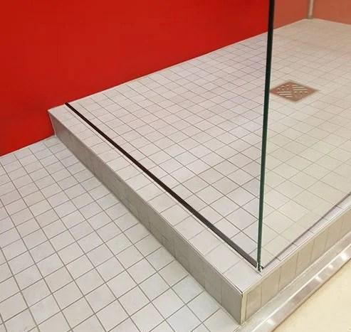 Barre De Seuil Pour Porte De Douche Aluminium Brosse 120 Cm Leroy Merlin