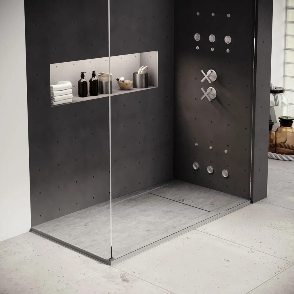 receveur de douche extraplat gres beton l 120 x l 90 cm kai basins