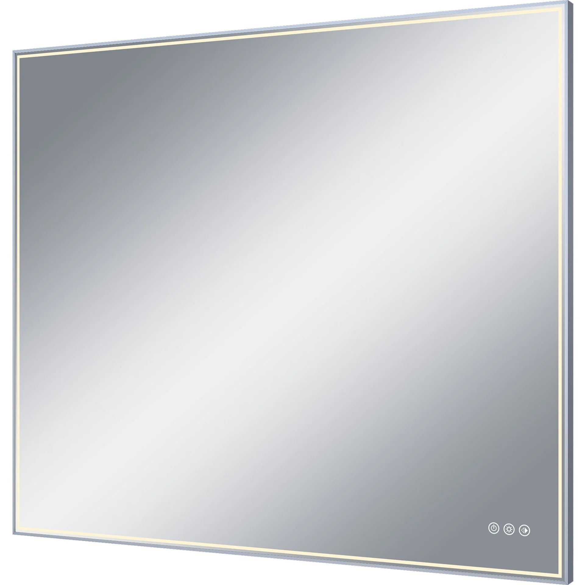 Miroir Lumineux Avec Eclairage Integre L 105 X H 90 Cm Neo Leroy Merlin