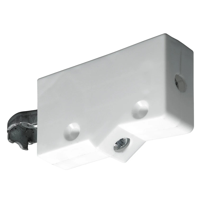 lot de 2 rails pour suspension de meuble haut acier zingue hettich l 35 mm