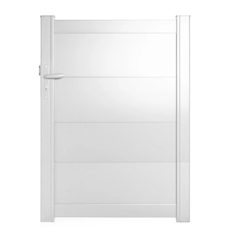 portillon battant aluminium hezo blanc naterial l 100x h 140 5 cm