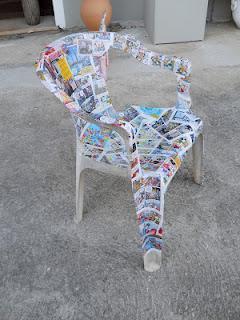 Come recuperare delle sedie di plastica rovinate prima