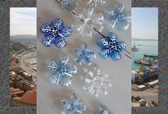 Fiocchi di neve idea riciclo  Paperblog