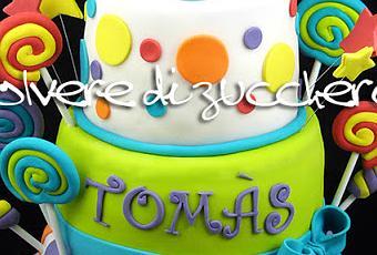 Torta caramelle candy cake per il primo compleanno di un bimbo  Paperblog