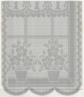 Schemi per il filet Tendina alla finestra  Paperblog