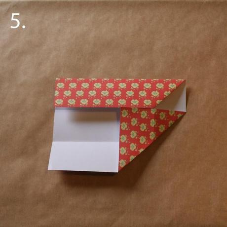 Origami cutlery holder tutorial