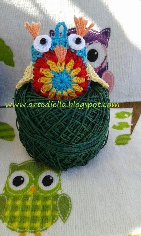 Gufo alluncinetto crochet owl tutorial  Paperblog