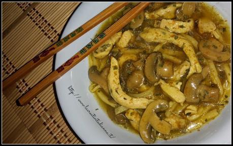 Ricetta cinese Pollo con funghi e bamb  Paperblog