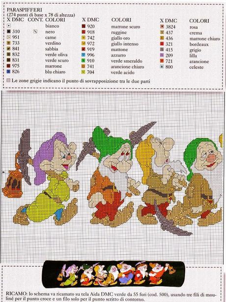 Schemi a punto croce con personaggi Disney a tema Natale  Paperblog