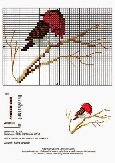 Puntocroce uccellini dinverno  Paperblog