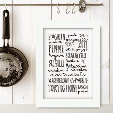 Home Inspiration le stampe da appendere in cucina  Paperblog