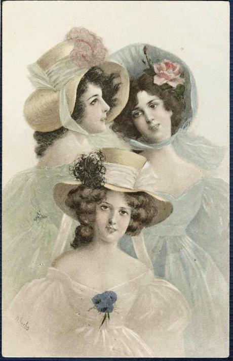 Stampe antiche Giovani Dame  Paperblog