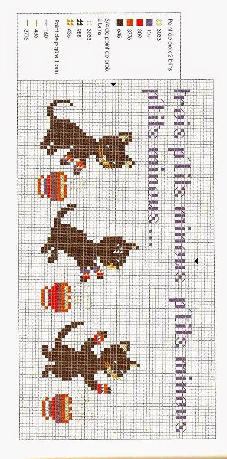 Punto Croce  Animali  Gatti e gattini facilissimi