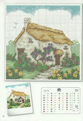 Schemi punto croce  quadretti case gratis da scaricare sul tuo pc  Paperblog