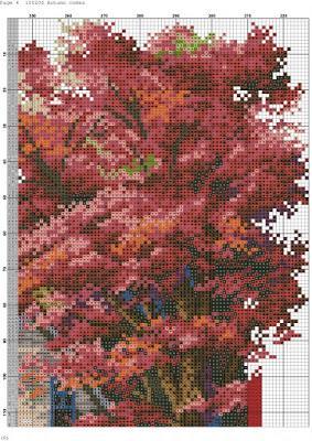 Paesaggio autunnale da ricamare a punto croce  Paperblog
