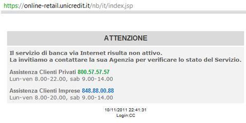 Santoro dice Unicredit a rischio fallimento e va in tilt il sito della banca.