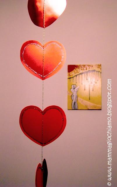 Decorazioni per San Valentino cuori glitter da appendere  Paperblog