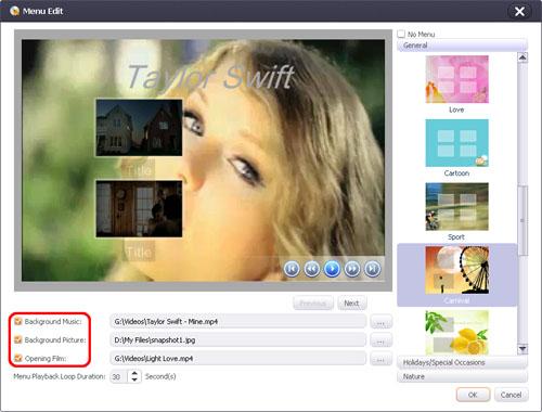 How to edit DVD menu