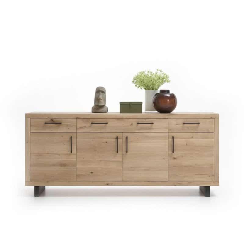 bahut bas 4 portes 3 tiroirs woodstock